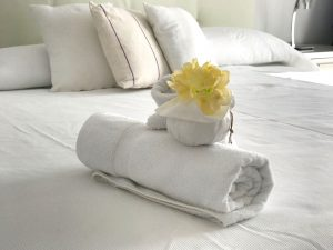 Luxury linen and maid service